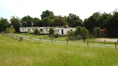 Holiday caravans at Park Grange
